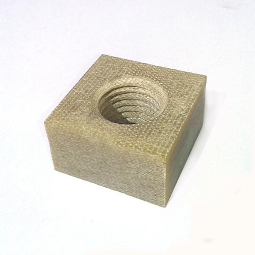 Square Nut made of Glass Fiber Reinforced Plastic GFRP