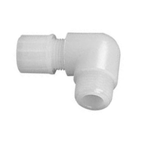 Micro Elbow Connector with Male Thread made of PTFE