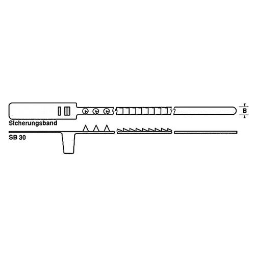 Sicherheits-Verschluss-Band