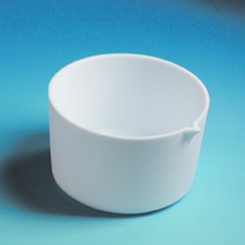 Evaporating Dish made of PTFE - high, with spout