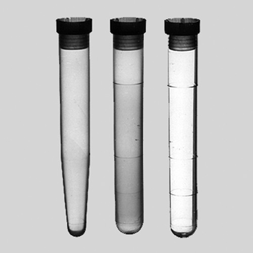 Test Tube made of PS - crystal-clear, with stopper or label