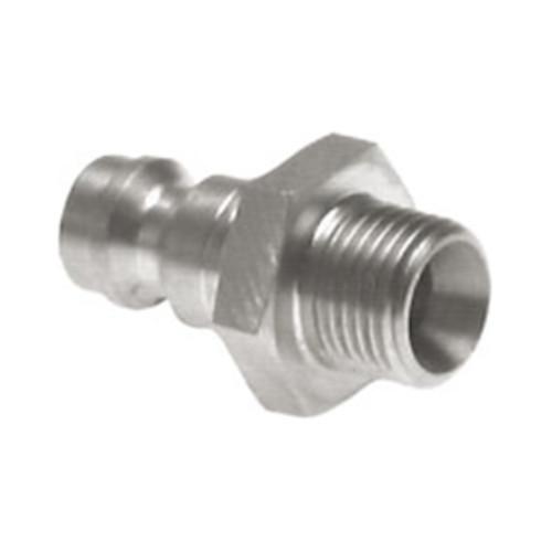 Schnellverschluss-Stecker aus Edelstahl, NW 5 mm - zweiseitig absperrend