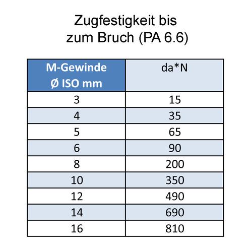 25 Zylinderkopfschrauben Innensechskant DIN 912 Polyamid PA 6.6 natur M5X8