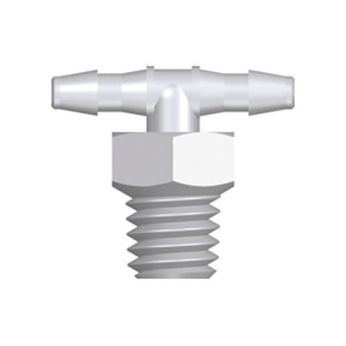 Mini T-Shaped Screw-in Connector with male thread UNF 10-32 - long