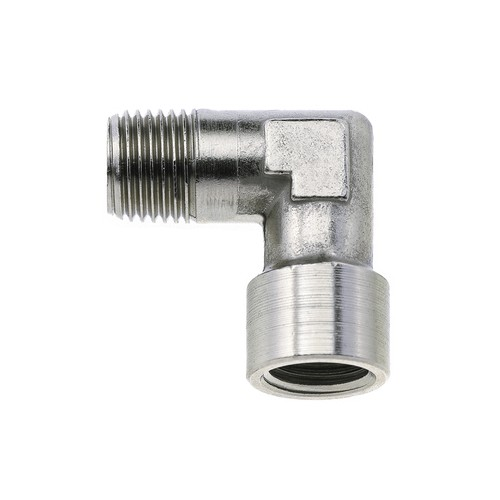 Elbow Screwed Fitting made of Brass, Nickel-Plated - external/internal thread