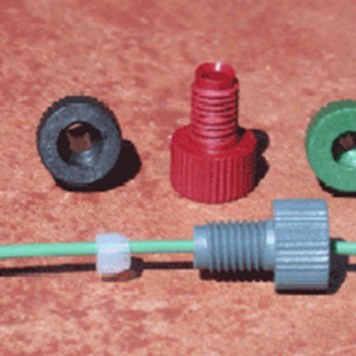 Straight Capillary Connector with Male Thread made of POM