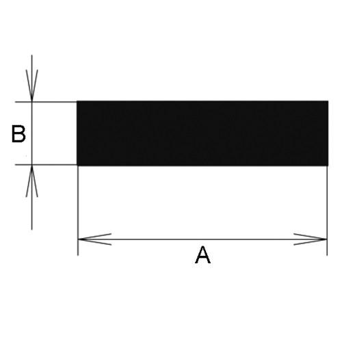 Rectangular Profile made of Silicone