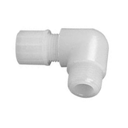 High-Pure Elbow Connector with Male Thread made of PFA - short