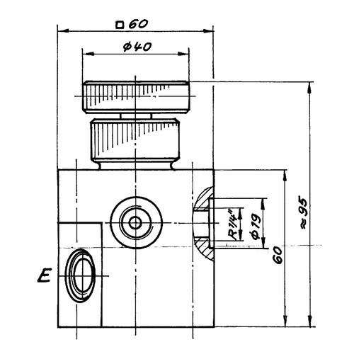 5-Wege-Hahn aus PP, PVDF oder PTFE - Durchgangs-Küken
