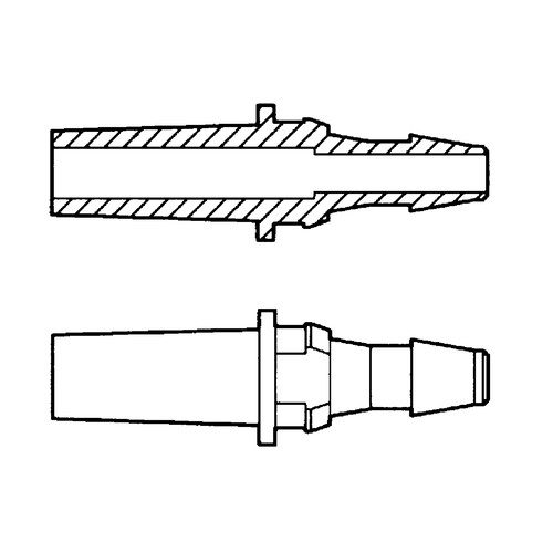 Luer Tubing Adapter (Male) with Round Tight Fit