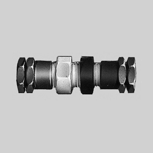 Straight Connector made of PTFE - Bulkhead
