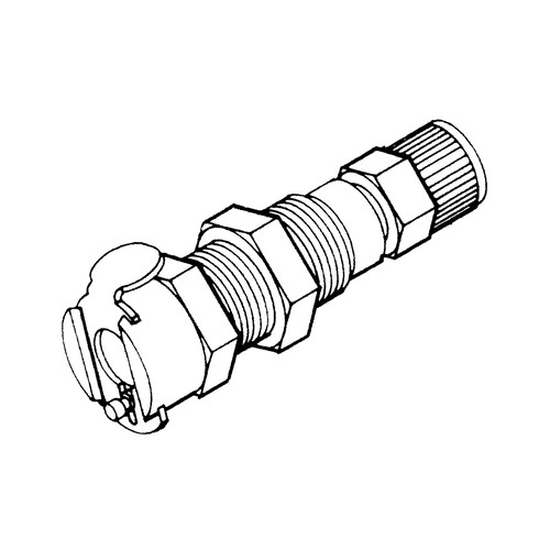 Quick-Disconnect Coupling made of Chromium-Plated Brass, NW 3.2 mm - Control Panel