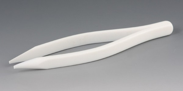 Tweezers made of PTFE - with fine pointed ends