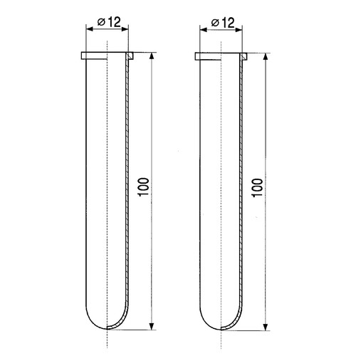 Test Tube made of PTFE - with rim