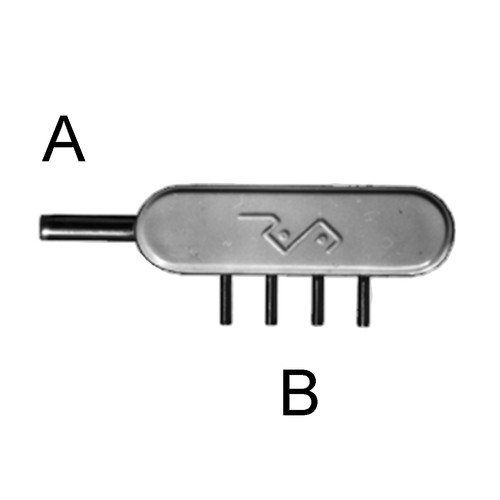 Manifold with 4 or 6 lateral outlets