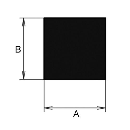 Rectangular Profile made of Silicone - High-Temperature