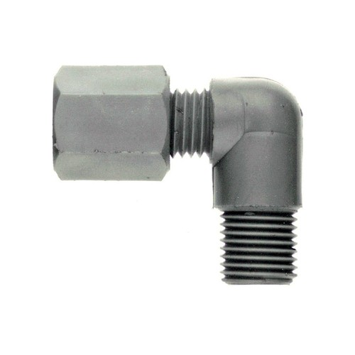 Winkel-Rohrverbinder mit Außengewinde aus PP, PVDF oder PTFE