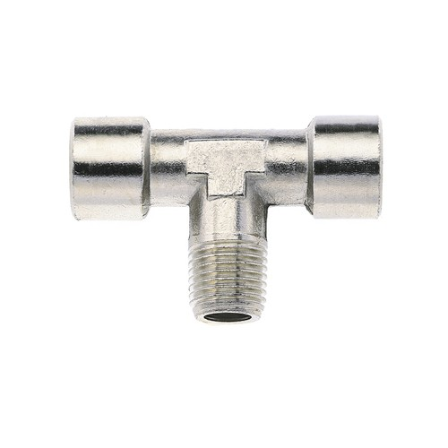 T-Shaped Screwed Fitting made of Brass, Nickel-Plated - internal/external thread
