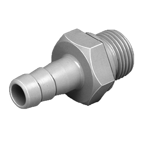 Straight Barb Connector with Male Thread made of PP, PVDF or PTFE