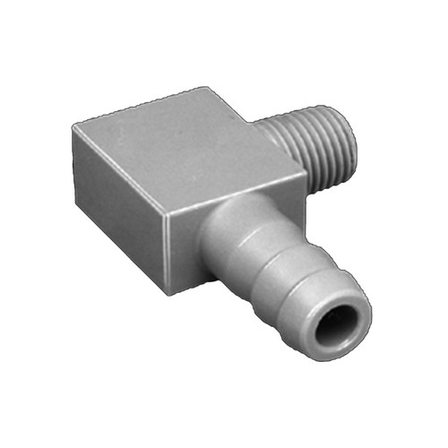 Elbow Barb Connector with Male Thread made of PP, PVDF or PTFE
