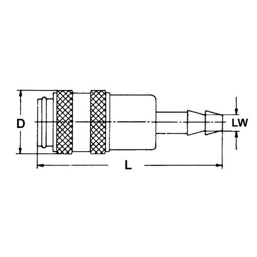 Schnellverschlusskupplung aus Edelstahl, NW 5 mm - einseitig absperrend