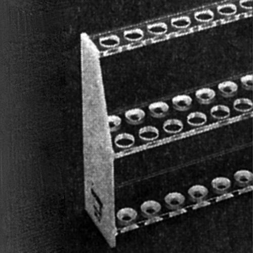 Reagenzglas-Gestell aus PMMA - für Reagenzgläser Ø 18 mm