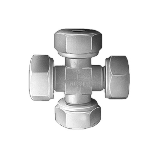 Cross Pipe Connector made of PVDF