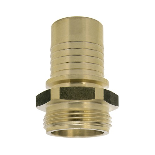 lndustrial Threaded Tubing Connector made of Brass with External Thread for Clamp Attachment