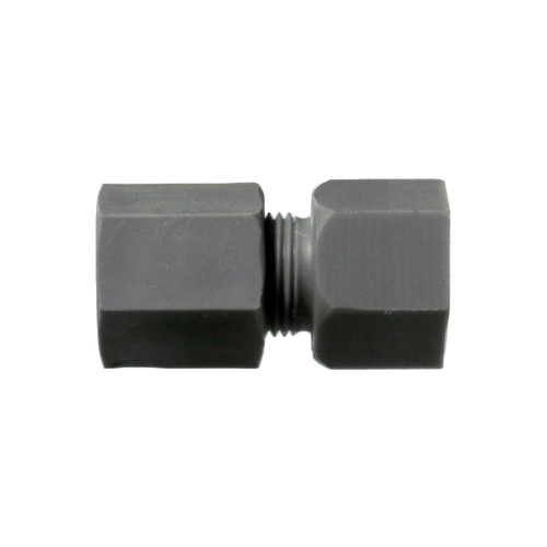 Straight Pipe Connector with Female Thread made of PP, PVDF or PTFE