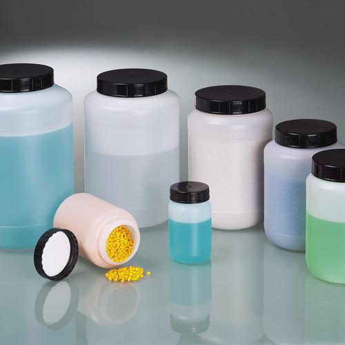 Weithalsflasche aus HDPE