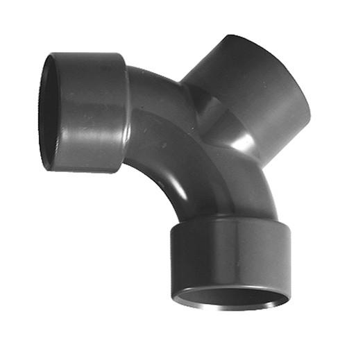 Y-Verbinder 90° mit Klebemuffe aus PVC-U