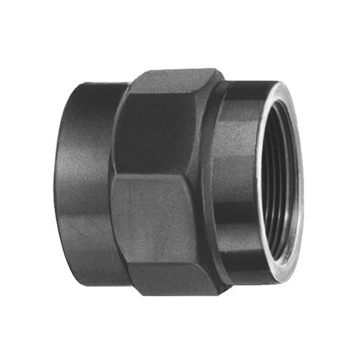 Gerader-Verbinder mit Klebemuffe und Innengewinde aus PVC-U