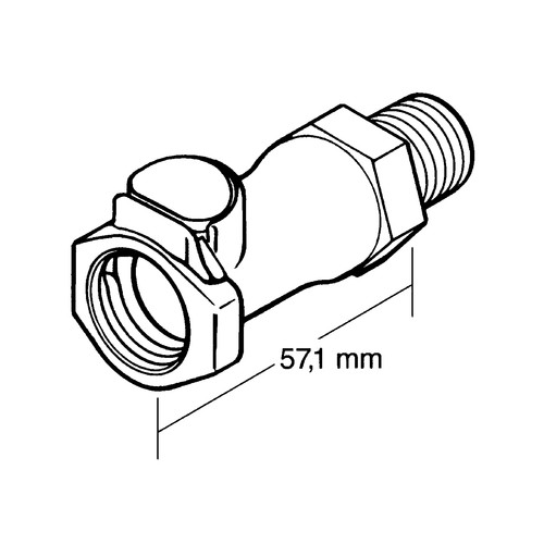 PP Quick-Disconnect Coupling, NW 9.5 mm