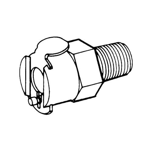 Schnellverschlusskupplung aus Messing-verchromt, NW 3,2 mm
