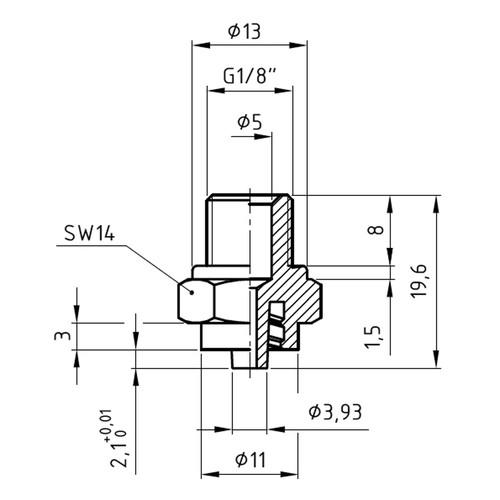 Luer-Lock-Adapter (männlich) mit Außengewinde